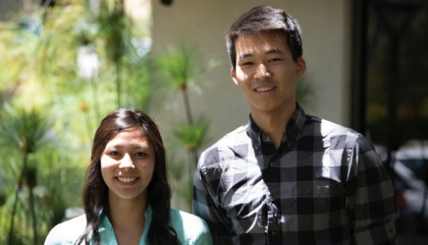 Photo of Cheylene Tanimoto and Vincent Lin