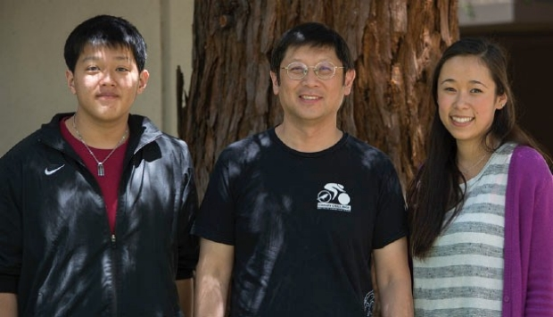 Photo of Nicholas Wu, Edwin Chang and Sophie Schick